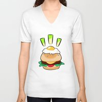egg V-neck T-shirts featuring EGG by grandsloop