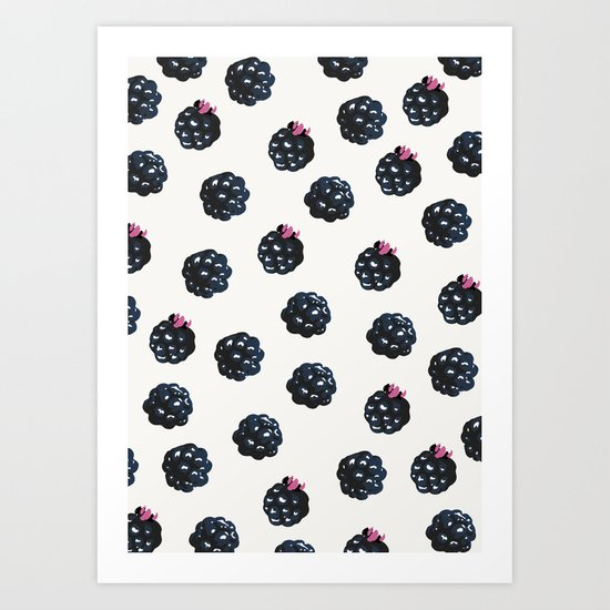 Blackberries pattern Art Print
