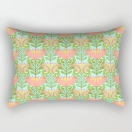 King Protea Flower Pattern - Turquoise Rectangular Pillow