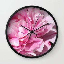 Peonia rosada 3 Wall Clock