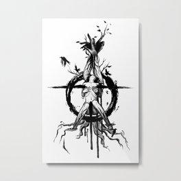 Black Spring Metal Print