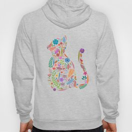 Fancy And Fine Flowered Cat Garden Design Hoody