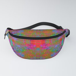 Ultraviolet Crystal Radiance (psychedelic, fluorescent, blacklight, trippy) Fanny Pack