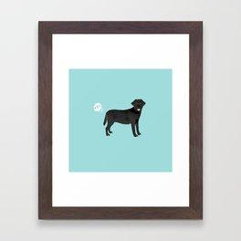 Black Lab funny fart dog breed gifts labrador retrievers Framed Art Print