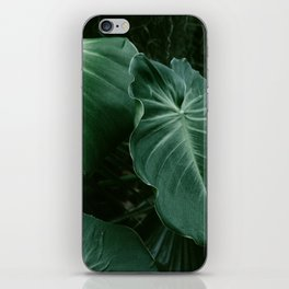 Tropical Plants on Black iPhone Skin