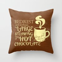 dumbledore Throw Pillows featuring Cheered by Chocolate Albus Dumbledore by PieTowel