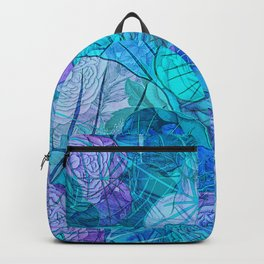 Leaves in Rosy Background 3 Backpack
