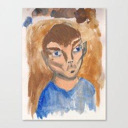 Watercolor Portrait 2 Canvas Print