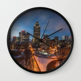 Montreal By Night Wall Clock
