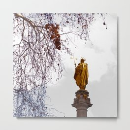 Statue of a saint in gold Metal Print