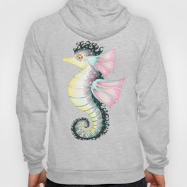 Seahorse Fantasy Watercolor Ink Art Hoody