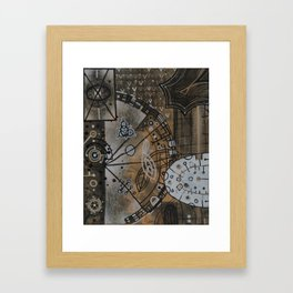 Gearbox in Rust and White Framed Art Print