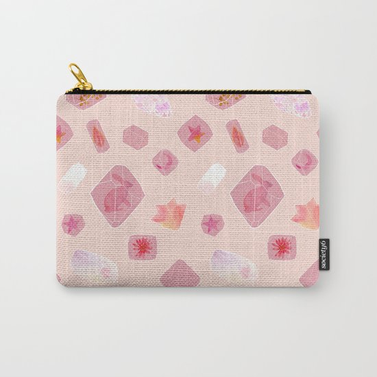 Gems: Pink Carry-All Pouch