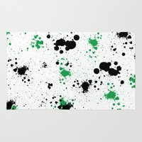 splatter Area & Throw Rugs featuring Splatter by Inphocus Photography