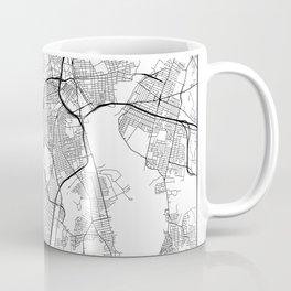 Minimal City Maps - Map Of Providence, Rhode Island, United States Coffee Mug