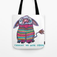 donkey Tote Bags featuring Donkey by Ruth Wels