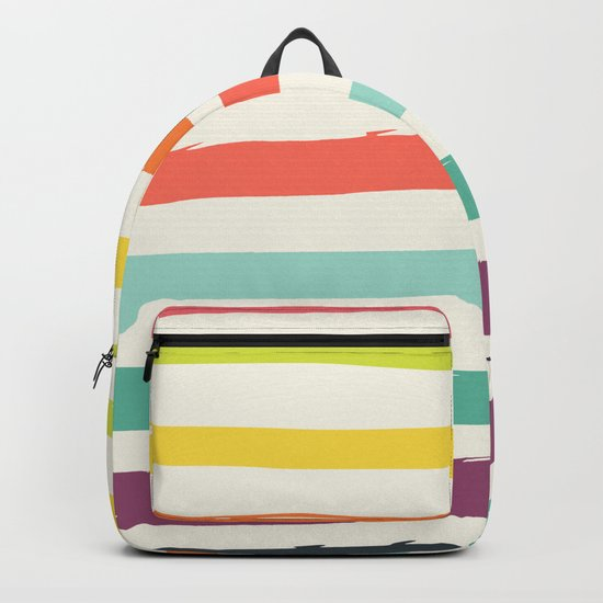 Colorful strokes ,rainbow Backpack