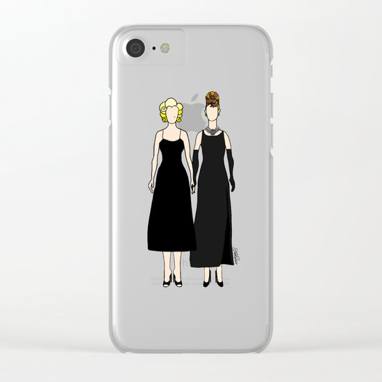 Little Black Dress of Audrey Marilyn Clear iPhone Case