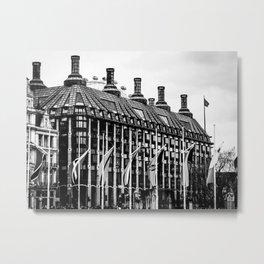 London Eye and Flags Metal Print