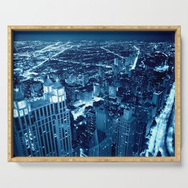Chicago Nights Blue Serving Tray