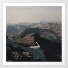 Mountain Layers in the Wyoming Wilderness Art Print