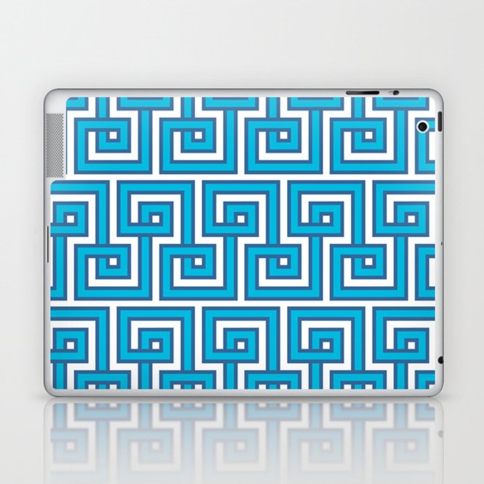 Greek Key - Turquoise Laptop & iPad Skin