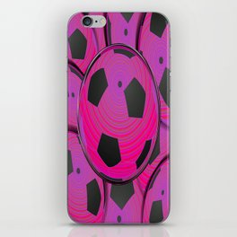 Pink Black Soccer Balls iPhone Skin