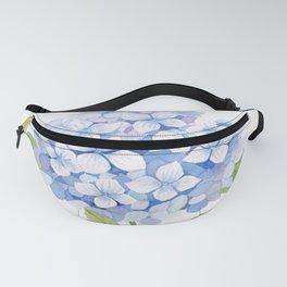 Blue Hydrangea Fanny Pack