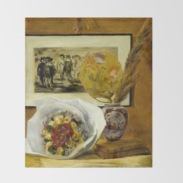 Still Life with Bouquet Throw Blanket