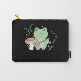 Cottagecore Aesthetic Frog paly banjo Carry-All Pouch