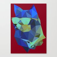 doge Canvas Prints featuring Polygonal Doge  by Michael Fortman
