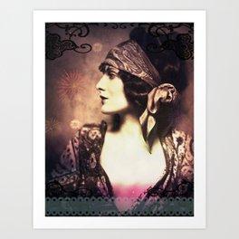 Gypsy Woman Art Print