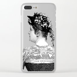 Tattooed Victorian Woman | Tattooed Woman | Vintage Tattoos | Victorian Tattoos | Victorian Gothic | Clear iPhone Case