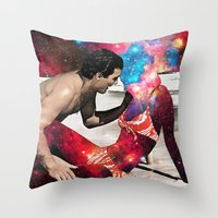 eugenia loli Throw Pillows featuring Kundalini by Eugenia Loli