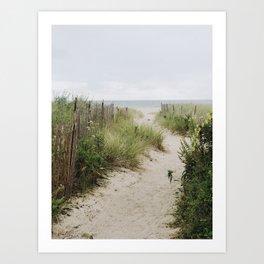 Overcast Beach Morning in Rhode Island Art Print