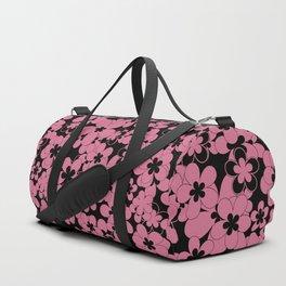 Floral black pink pattern Duffle Bag
