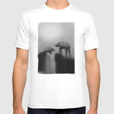 Big Walker Is Watching You MEDIUM White Mens Fitted Tee
