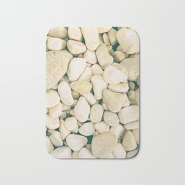 White sea pebble Bath Mat