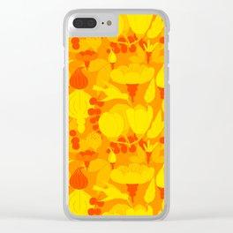 Garden pattern Clear iPhone Case