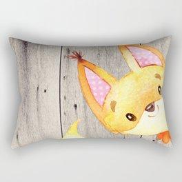 Woodland Friends - Little Fox In Forest Rectangular Pillow