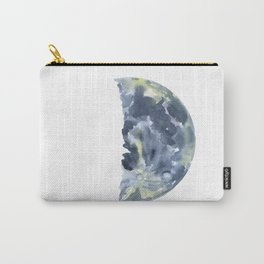 First Quarter Moon Watercolor Carry-All Pouch