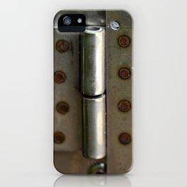 Metal hinge iPhone Case