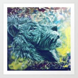 Cosmic Lion Art Print
