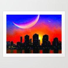 Alien City Art Print