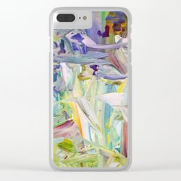 Abstracted Spring Iris Clear iPhone Case