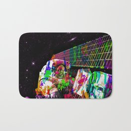 Psychedelic space walk Bath Mat