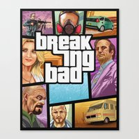 gta Canvas Prints featuring Breaking Bad: GTA  by Messypandas
