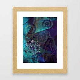 Hypnotic Blue Framed Art Print