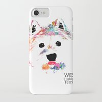 westie iPhone & iPod Cases featuring Max the Westie by free in the lines