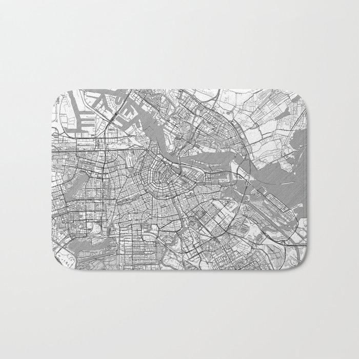 Amsterdam Map Line Bath Mat
